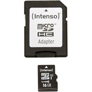 16 GB Intenso microSDHC UHS-I Retail inkl. Adapter auf SD