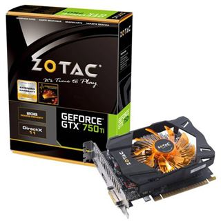 2GB ZOTAC GeForce GTX 750 Ti Aktiv PCIe 3.0 x16 (Retail)