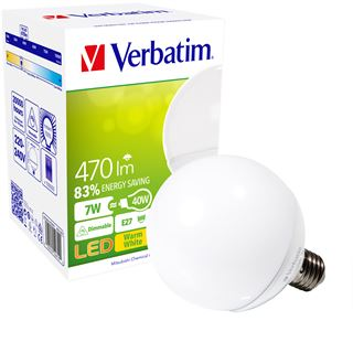 Verbatim LED Globe 7W Matt E27 A+
