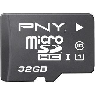 32 GB PNY Elite Performance microSDHC UHS-I Retail inkl. Adapter auf