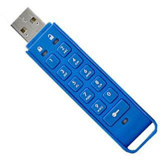 8 GB iStorage datAshur Personal blau USB 2.0