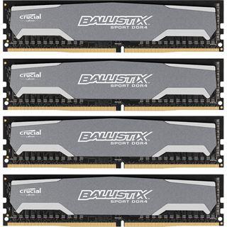 32GB Crucial Ballistix Sport DDR4-2400 DIMM CL16 Quad Kit