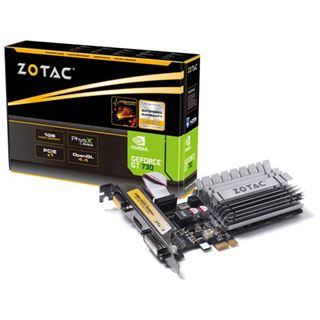 1GB ZOTAC GeForce GT 730 LP Passiv PCIe 2.0 x1 (Retail)