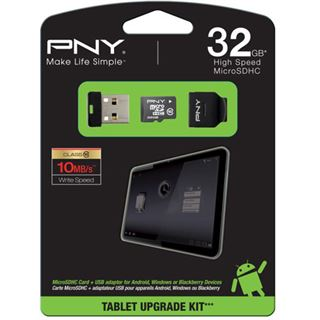 32 GB PNY Android Upgrade Kit microSDHC Class 10 Retail inkl.