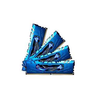 32GB G.Skill RipJaws 4 blau DDR4-2400 DIMM CL15 Quad Kit