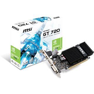 2GB MSI GeForce GT 720 GDDR3 Passiv PCIe 2.0 x 8 (Retail)