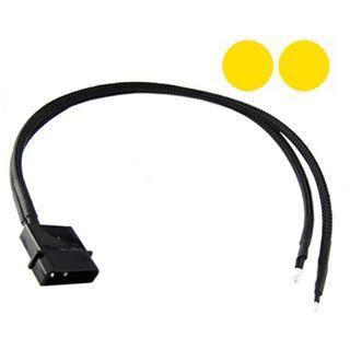 XSPC gelbe 3mm Twin-Wired LED für 4-Pin Molex (5060175582157)
