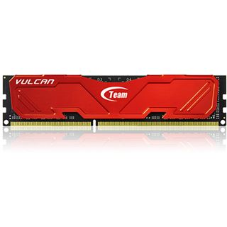 8GB TeamGroup Vulcan Series rot DDR3-2400 DIMM CL11 Dual Kit