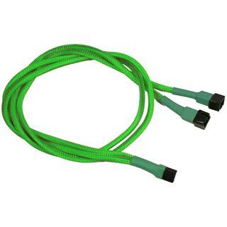 Nanoxia 60 cm sleeved neon grünes Y-Kabel für 3-Pin Molex (NX3PY60NG)