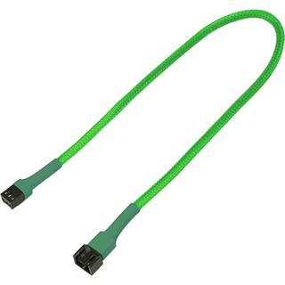Nanoxia 30 cm sleeved neon grünes Verlängerungskabel für 4-Pin PWM (NXPWV30NG)