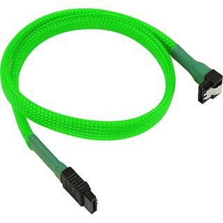 Nanoxia 45 cm sleeved abgewinkeltes neon grünes Verbindungskabel