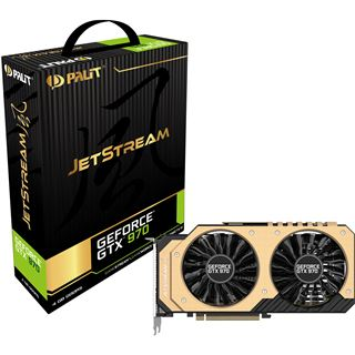 4GB Palit GeForce GTX 970 JetStream Aktiv PCIe 3.0 x16 (Retail)