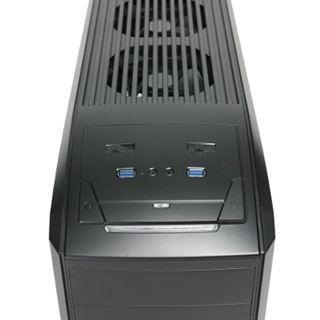 Antec GX500 mit Sichtfenster Midi Tower ohne Netzteil schwarz/blau
