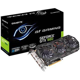 4GB Gigabyte GeForce GTX 980 Gaming G1 Aktiv PCIe 3.0 x16 (Retail)