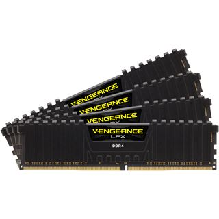 16GB Corsair Vengeance LPX schwarz DDR4-2666 DIMM CL16 Quad Kit