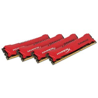 32GB HyperX Savage rot DDR3-1866 DIMM CL9 Quad Kit