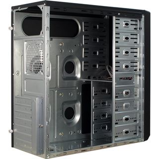 Inter-Tech JY-260 Hedgehog Midi Tower ohne Netzteil schwarz