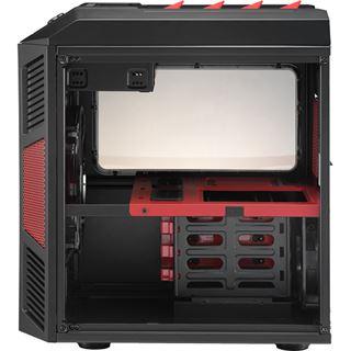 AeroCool Xpredator Cube Red Edition mit Sichtfenster Wuerfel ohne