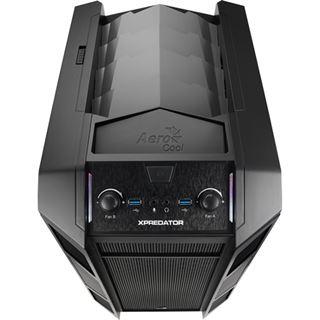 AeroCool Xpredator Cube Black Edition mit Sichtfenster Wuerfel ohne Netzteil schwarz