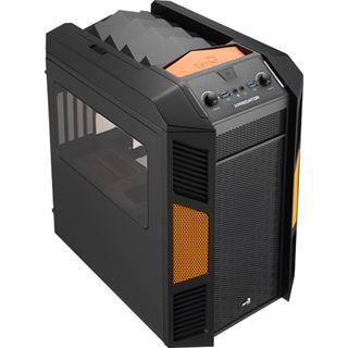 AeroCool Xpredator Cube Orange Edition mit Sichtfenster Wuerfel ohne