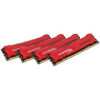 32GB HyperX Savage rot DDR3-2400 DIMM CL11 Quad Kit