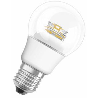 Osram LED Superstar Classic A advanced 40 6W/827 CL Klar E27 A+