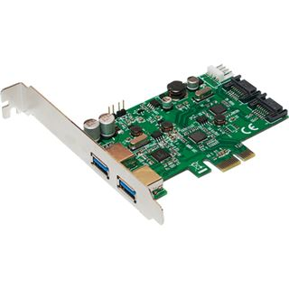 LogiLink PC0059A 4 Port PCIe x1 inkl. Low Profile Slotblech / Low Profile retail