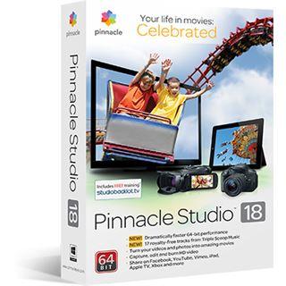 Pinnacle Studio 18 Standart 64 Bit Deutsch Grafik Vollversion PC (DVD)