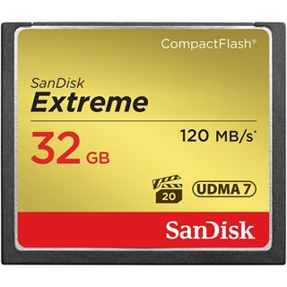 32 GB SanDisk Extreme Compact Flash TypI 800x Retail