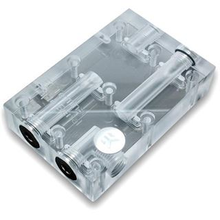 EK Water Blocks EK-FC Terminal DUAL Parallel transparente Brückenverbindung für EK-VGA Kühler mit 1 Slot Abstand (3831109869338)
