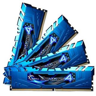 32GB G.Skill RipJaws 4 blau DDR4-2666 DIMM CL16 Quad Kit