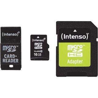 16 GB Intenso 3413770 microSDHC Class 10 Retail inkl. Adapter auf SD