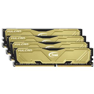 16GB TeamGroup Vulcan Series gold DDR4-3000 DIMM CL16 Quad Kit
