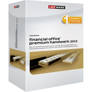 Lexware Financial Office Premium Handwerk 2015 32/64 Bit Deutsch Finanzen Vollversion PC (CD)