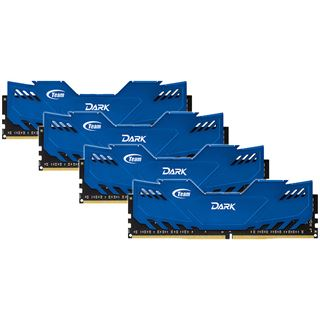 16GB TeamGroup Dark Series blau DDR4-2666 DIMM CL15 Quad Kit
