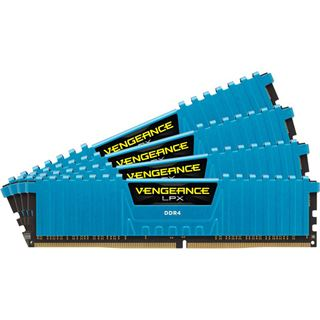 32GB Corsair Vengeance LPX blau DDR4-2666 DIMM CL16 Quad Kit