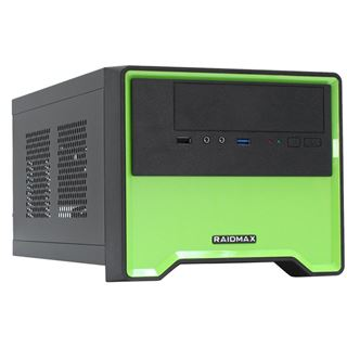 Raidmax Element Mini-ITX ohne Netzteil gruen