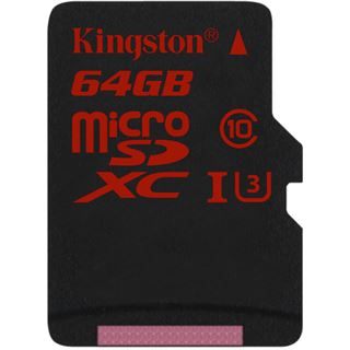64 GB Kingston microSDHC Class 10 U3 Retail