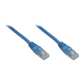 10.00m Good Connections Cat. 6 Patchkabel U/UTP RJ45 Stecker auf RJ45 Stecker Blau halogenfrei/vergoldet