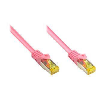 (€1,20*/1m) 30.00m Good Connections Cat. 7 Patchkabel S/FTP PiMF RJ45 Stecker auf RJ45 Stecker Magenta halogenfrei/vergoldet