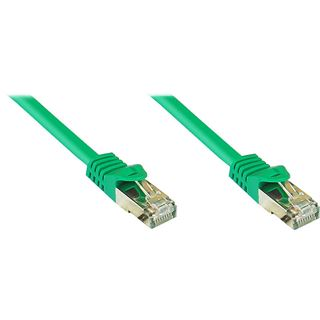 (€0,84*/1m) 25.00m Good Connections Cat. 7 Patchkabel S/FTP PiMF RJ45 Stecker auf RJ45 Stecker Grün halogenfrei/vergoldet