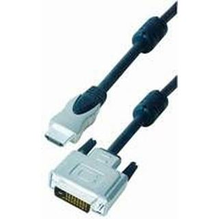 10.00m Good Connections HDMI Anschlusskabel 19pol Stecker auf DVI 24+1 Stecker Schwarz