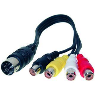 Good Connections Audio Adapter 5-pol DIN Stecker an 4 x Cinch Buchse
