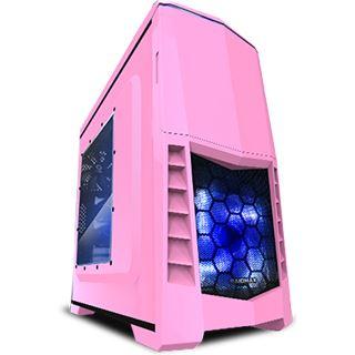 Raidmax Scorpio V mit Sichtfenster Midi Tower ohne Netzteil pink