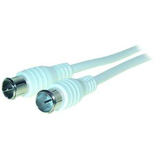(€2,60*/1m) 1.50m Good Connections Antenne Antennenkabel F-Quick-Stecker auf F-Quick-Stecker Weiß geschirmt