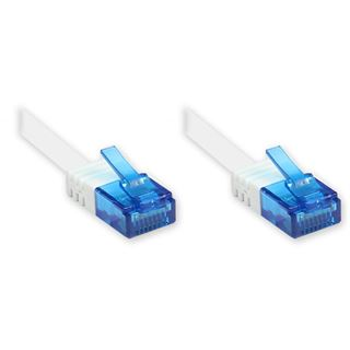10.00m Good Connections Cat. 6a Patchkabel flach U/UTP RJ45 Stecker