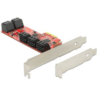 Delock 89384 10 Port PCIe 2.0 x2 Low Profile retail