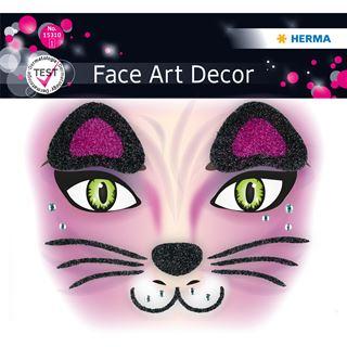 Herma Face Art Sticker Pink Cat