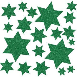 Herma Fensterdecor Sterne grün