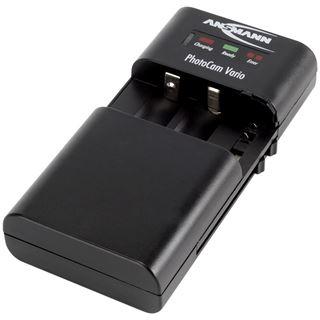 Ansmann PHOTOCAM VARIO, Universalladegerät für LI-ION/LI-PO-Akkupacks & Mignon-AA-/Micro-AAA-NiMH-Akkus (1001-0019)